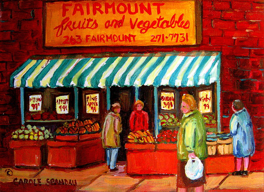 Fairmount Fruits And Vegetables Painting - Fairmount Fruit And Vegetables by Carole Spandau