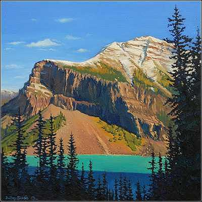 Lake Louise Painting - Fairview Mountain - Lake Louise by Dmitry Oivadis