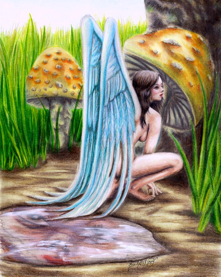Wings Drawing - Fairy Amongst Poison by Scarlett Royal
