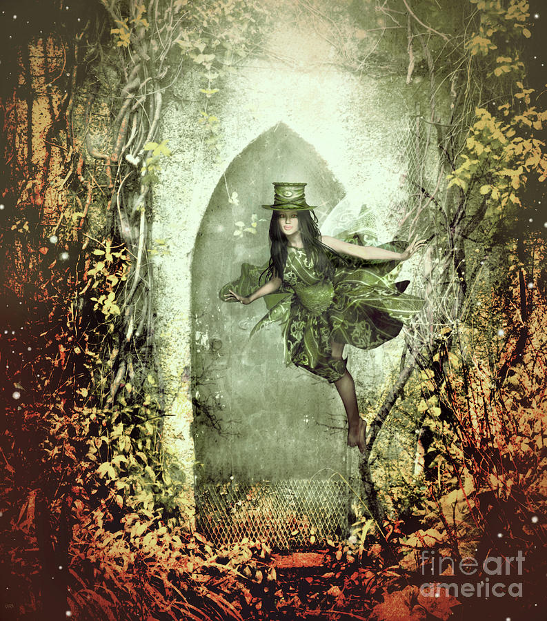 Trees Mixed Media - Fairy Cottage by KaFra Art