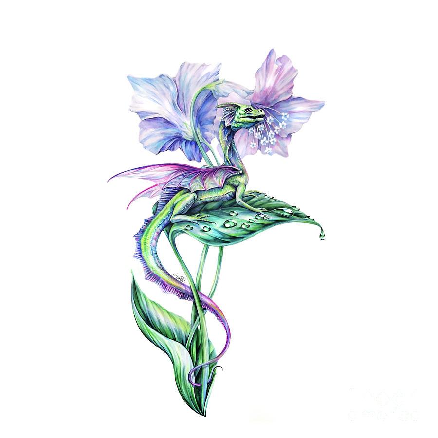 Fairy Dragon Painting - Fairy Dragon by Anne Koivumaki - Fine Art Anne