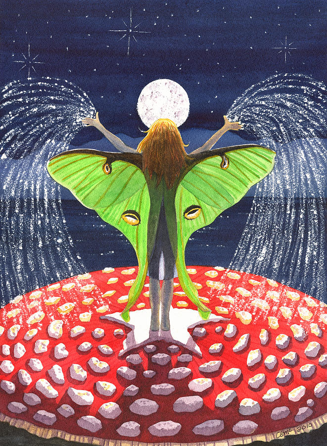 Fairy Painting - Fairy Dust by Catherine G McElroy