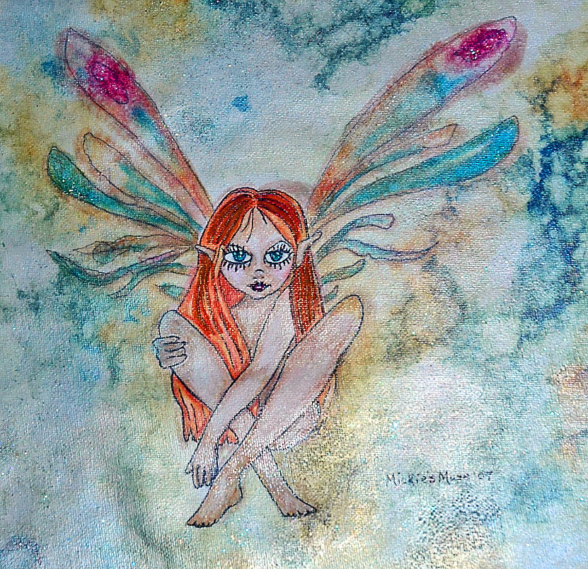 Fairy Painting - Fairy Dust by Mickie Boothroyd
