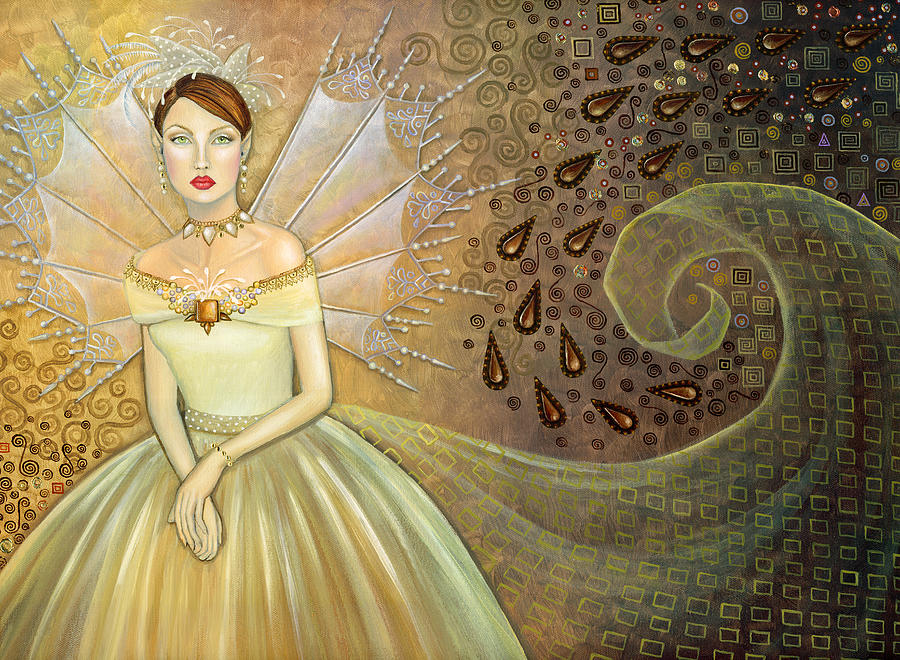 Fairy Painting - Fairy Godmother by BK Lusk