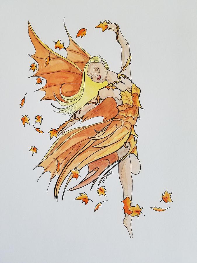 Fairy Painting - Fall Fairy by Johnny McNabb