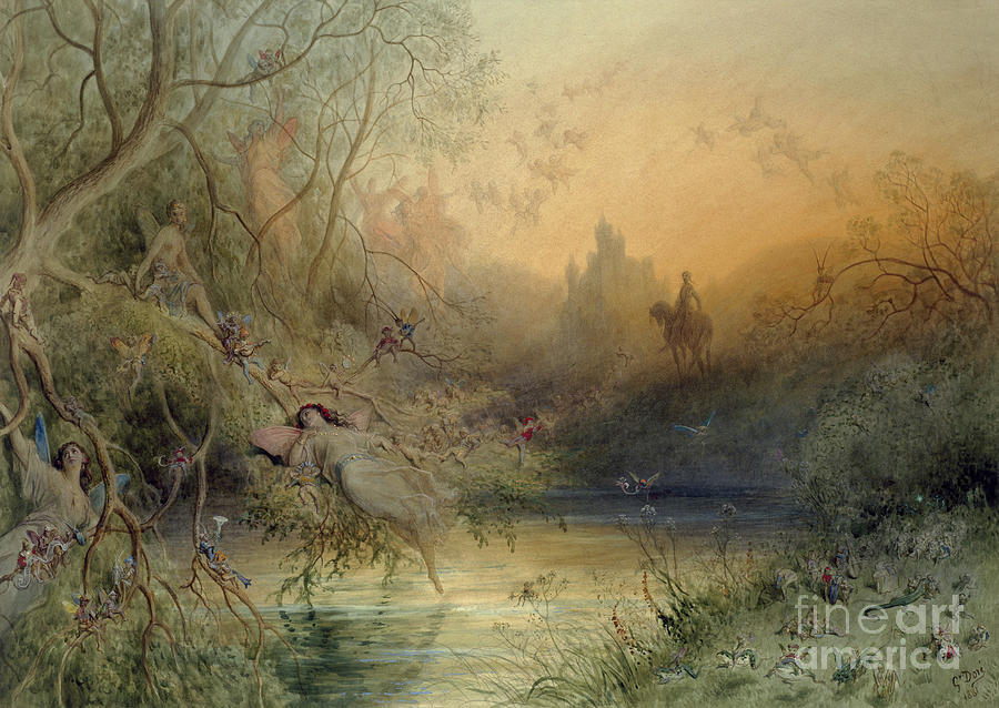 Fairy Land Painting - Fairy Land by Gustave Dore