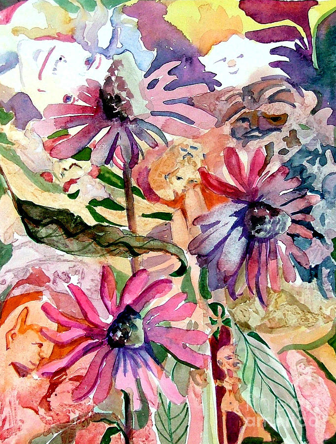 Daisy Painting - Fairy Land by Mindy Newman
