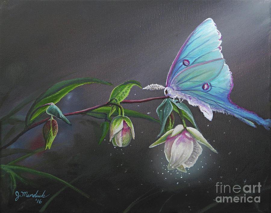 Fairy Painting - Fairy Lanterns Glow by Joe Mandrick