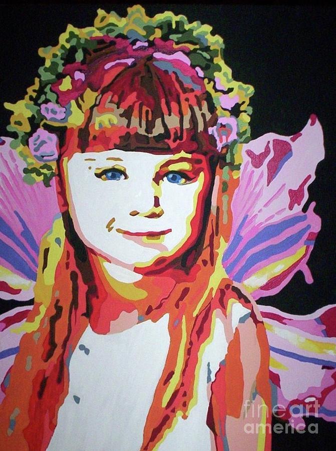 Girl Painting - Fairy Lexi by Jennifer Heath Henry