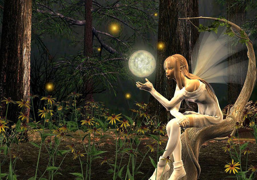 Fairy Light Digital Art by Lisa Roy