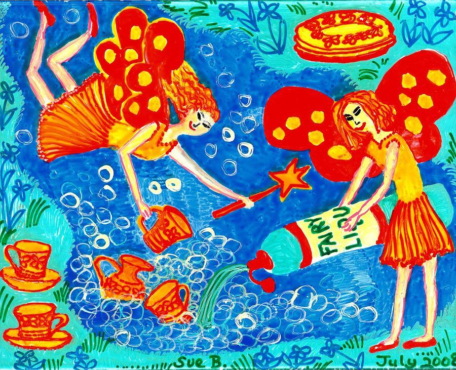 Sue Burgess Painting - Fairy Liquid by Sushila Burgess