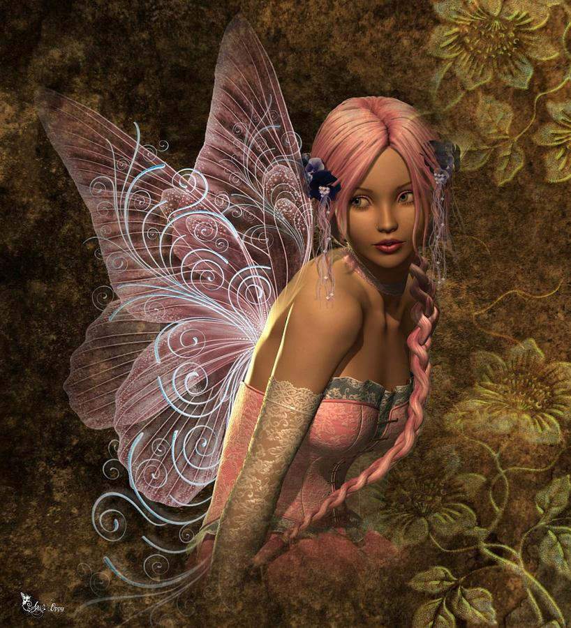 Mystic Digital Art - Fairy Lite  by Ali Oppy