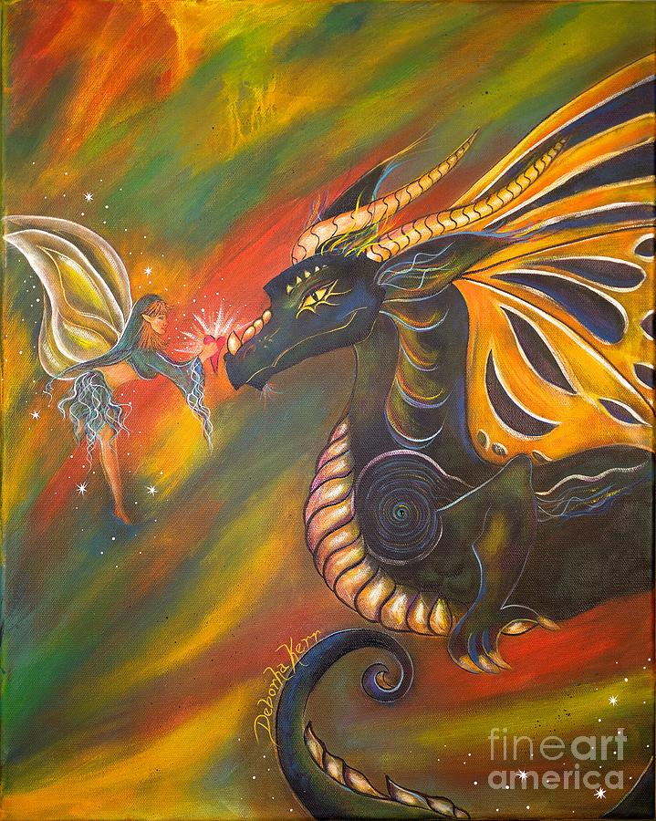 Fairy Painting - Sacred Gift by Deborha Kerr