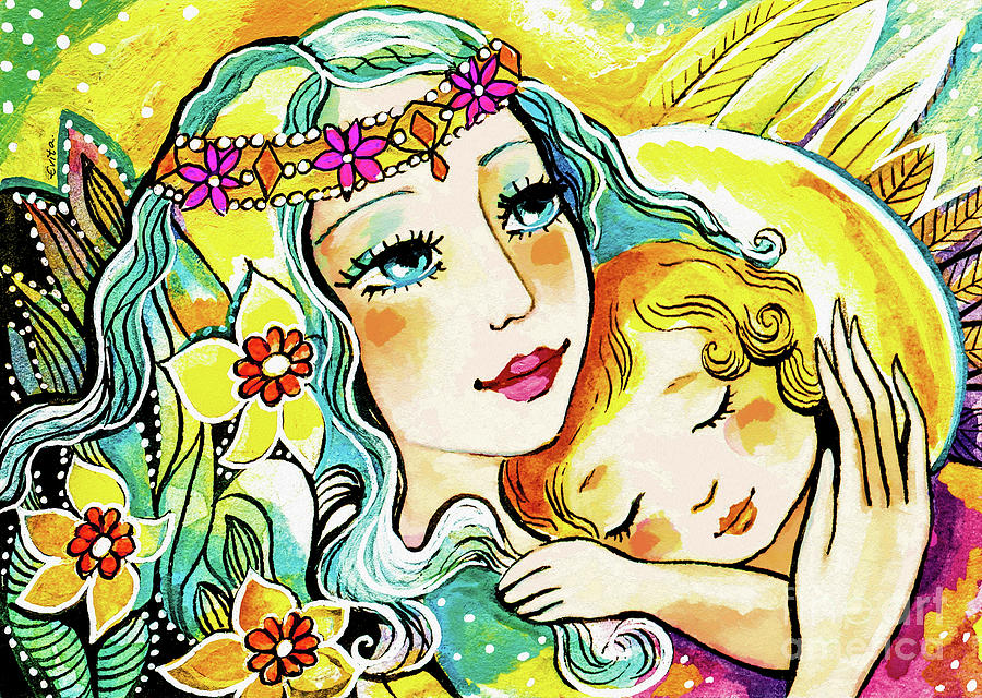 Fairy Mother and Angel Child by Eva Campbell