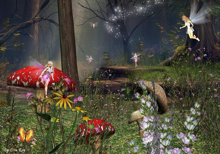 Fairy Night Digital Art by Lisa Roy