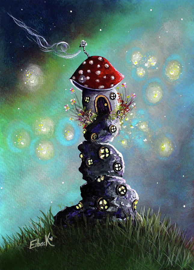 Fairy Paintings - Home For The Night by Erback Art
