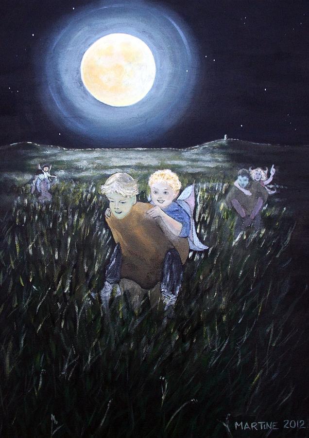 Fairys Painting - Fairy Races At Tara by Martine Murphy