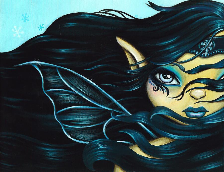 Snowflake Painting - Fairy Snowflake by Elaina  Wagner