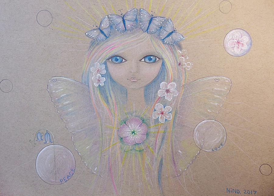 Fairy Drawing - Fairy Song  by Nino Gabashvili