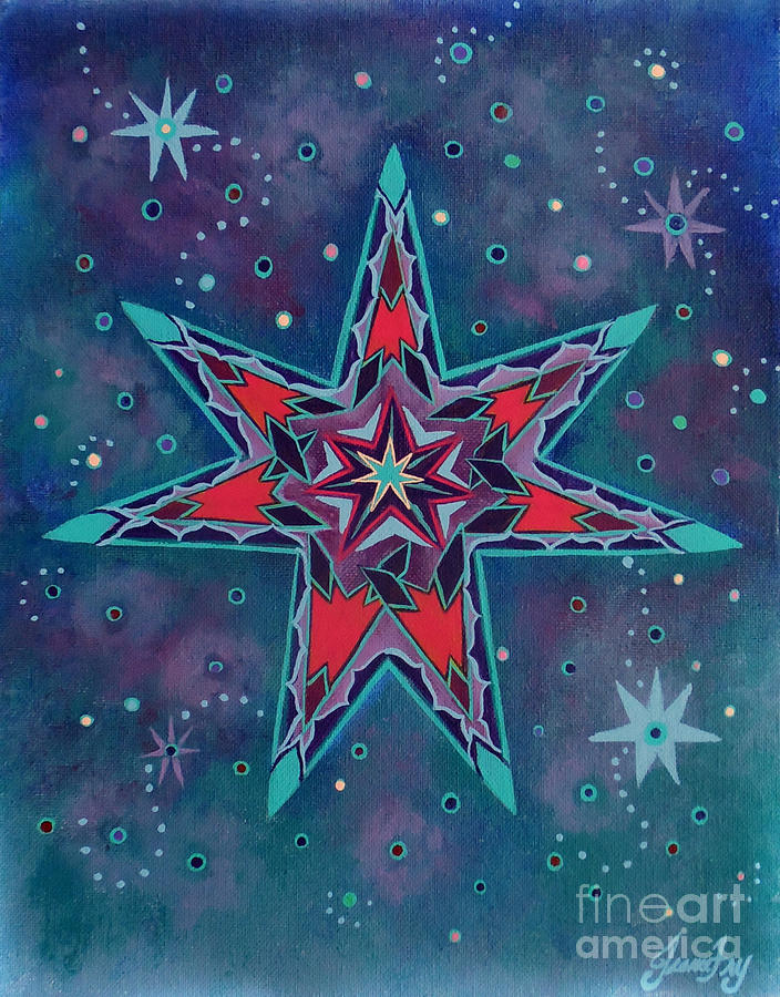 Fairy Star a Seven Pointed Star by Jean Fry