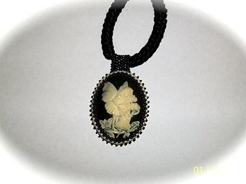 Beadwork Jewelry - Fairy With Flower by Ema Colon