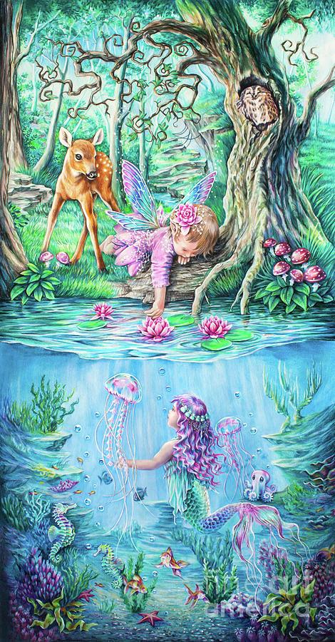 Pastels Drawing - Fairy tale by Anne Koivumaki - Fine Art Anne