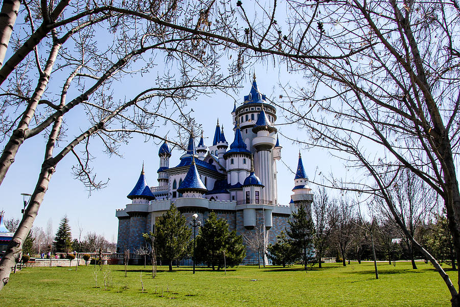 Architecture Photograph - Fairytale Castle In Sazova Park, Eskisehir by Freepassenger By Ozzy CG