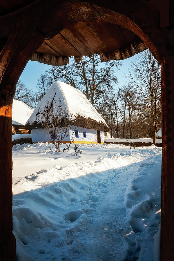 Fairytale Cottage In Winter At The Village Museum In Bucharest Photograph