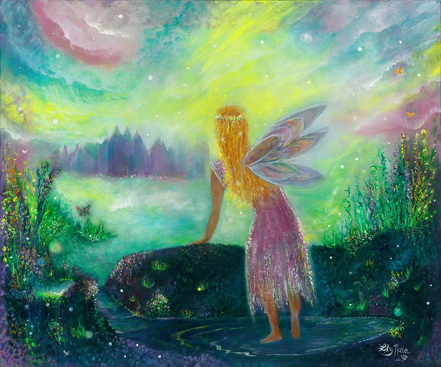 Dreams Painting - Fairytale by Lily Nava