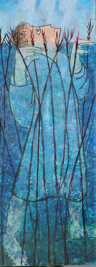 Judaica Painting - Faith At The Sea Of Reeds by Mordecai Colodner