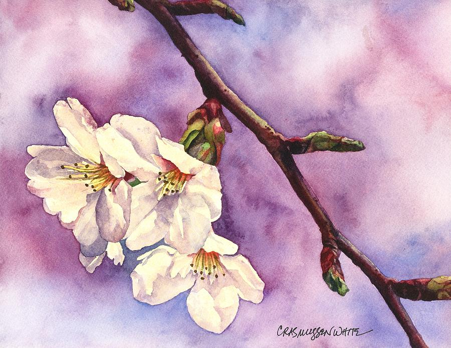 Watercolor Painting - Faith Hope And Love by Casey Rasmussen White