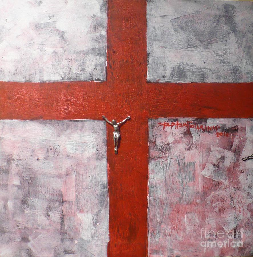 Religion Painting - Faith In The Cross by Stephen Folaranmi
