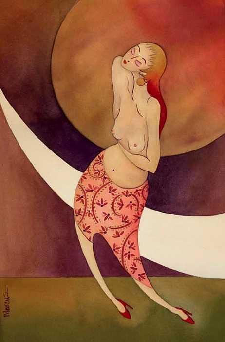 Woman Faith Inspirational Painting - Faith by Leslie Marcus