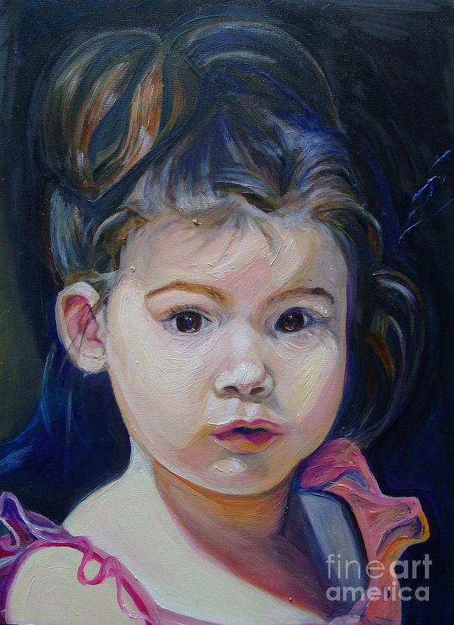 Portrait Painting - Faith Like a Child by Sue Steiner