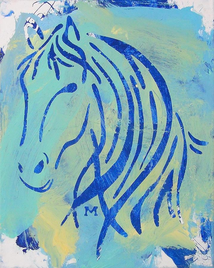 Horse Painting - Faith by Candace Shrope