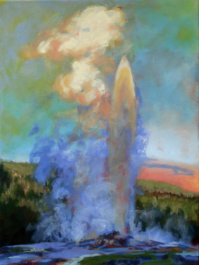 Old Faithful Painting - Faithful by Carol Strickland