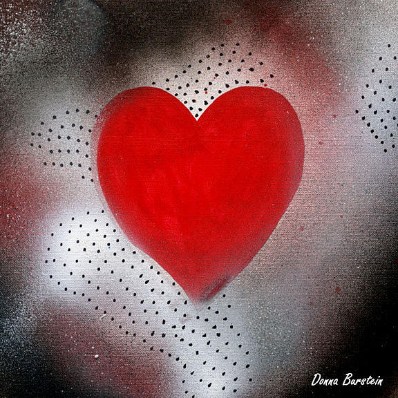 Heart Painting - Faithful Heart by Donna Burstein