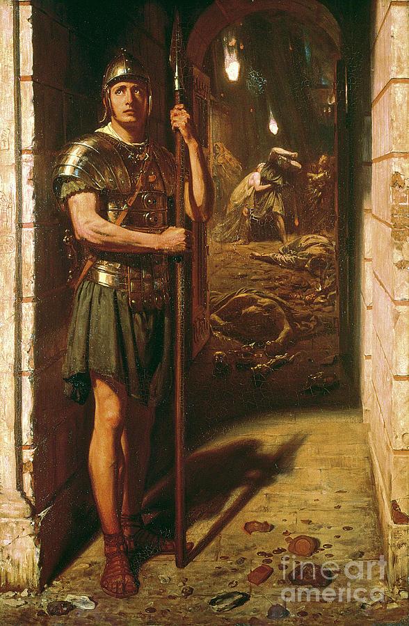 Faithful Unto Death Painting - Faithful Unto Death by Sir Edward John Poynter