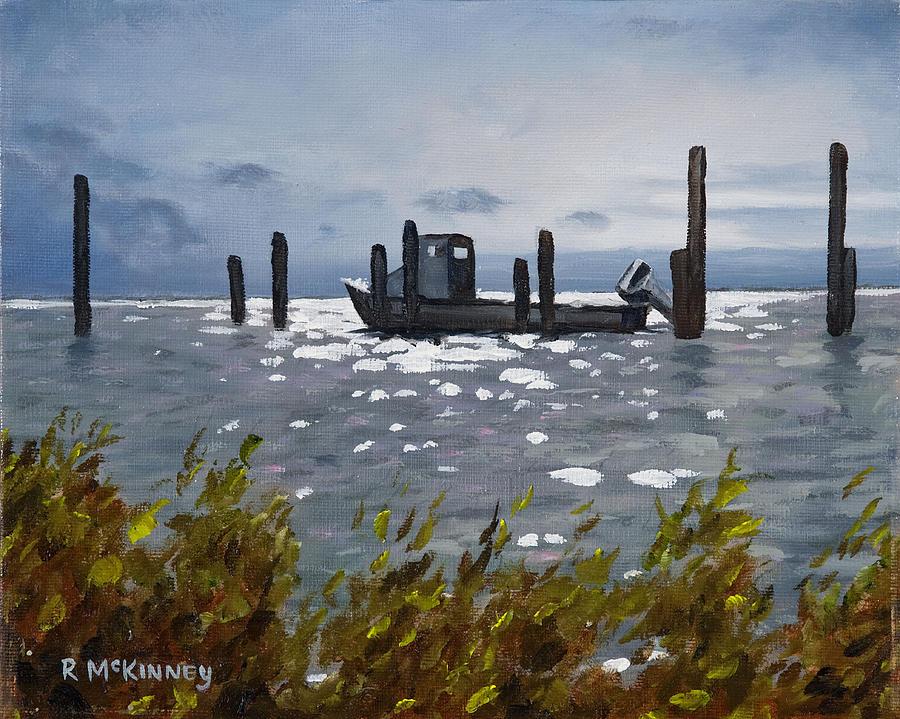 Boat Painting - Faithful Waiting by Rick McKinney