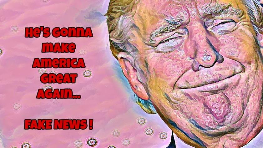 Fake News Painting by Susan Solak