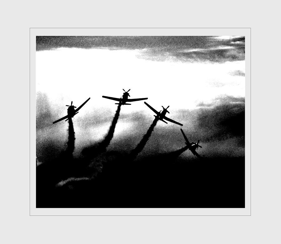 Aircraft Photograph - Falcons by Rachel Dubber