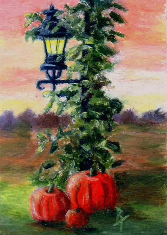 Fall Painting - Fall Aceo by Brenda Thour
