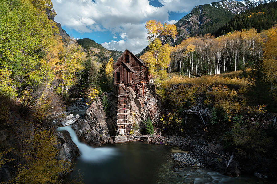 Fall At Crystal Mill Photograph