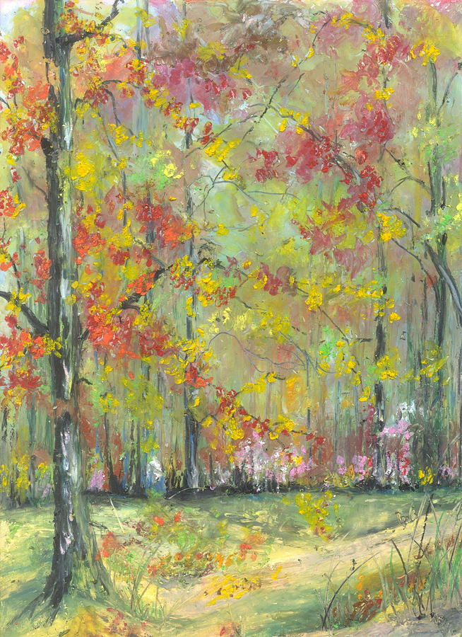 Landscape Painting - Fall At The Buffalo River National State Park by Robin Miller-Bookhout