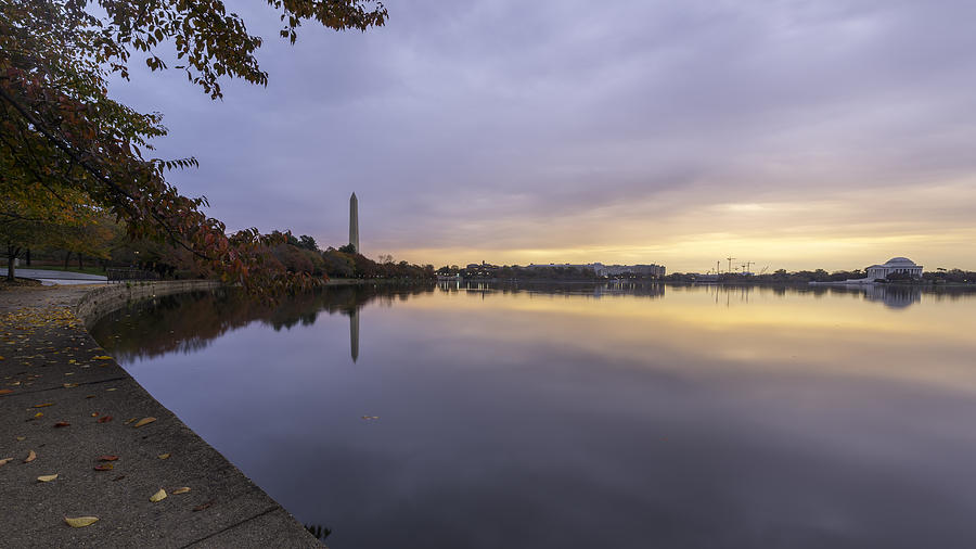 Alexandria Photograph - Fall At The Tidal Basin by Michael Donahue