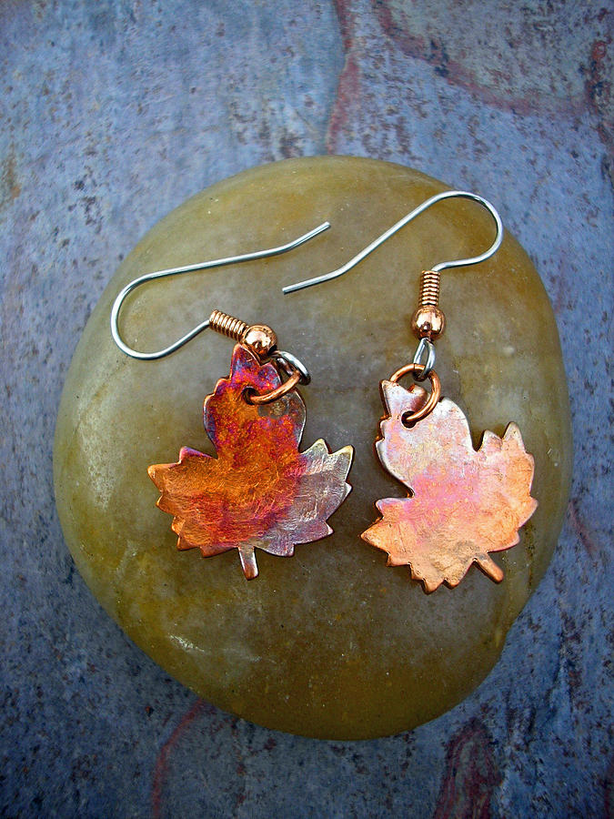 Leaf Jewelry - Fall Beauty by Angie DElia
