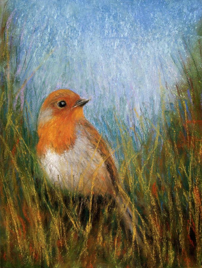 Paintings Pastel - Fall Bird by Susan Jenkins