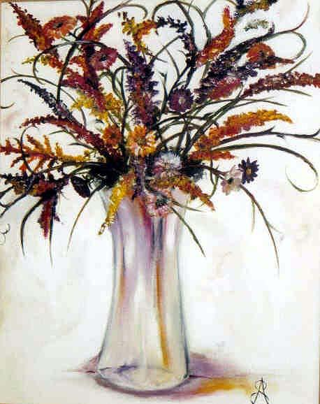 Floral Painting - Fall Bouquet by Amanda  Sanford