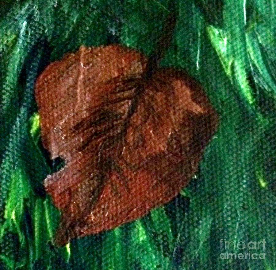 Leaf Painting - Fall Brown Leaf by Janelle Dey