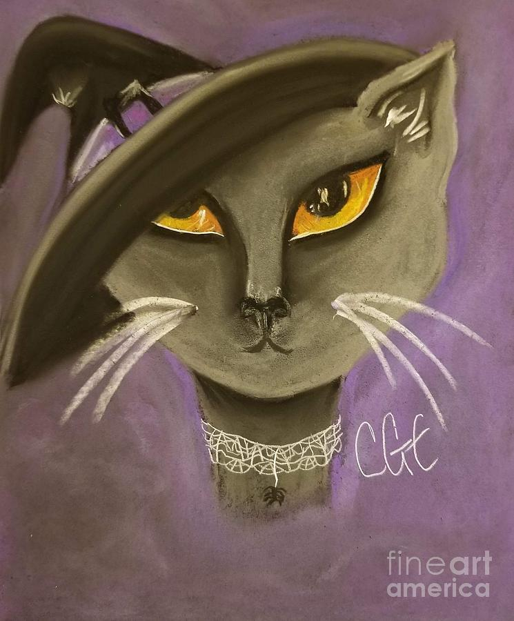 Fall Pastel - Fall Cat by Crystal Elswick
